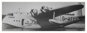 BOAC Empire C-Class Flying Boat G-AFCT